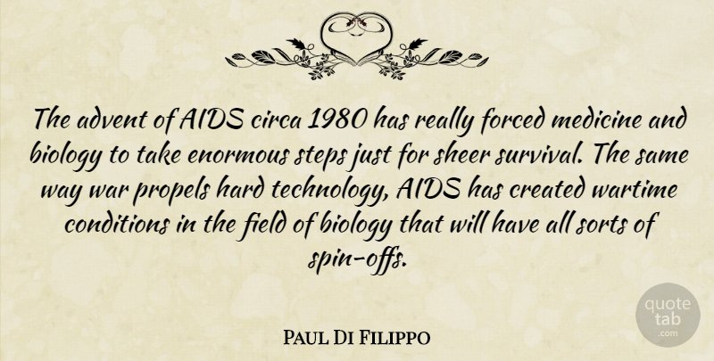 Paul Di Filippo Quote About Advent, Aids, Biology, Conditions, Created: The Advent Of Aids Circa...