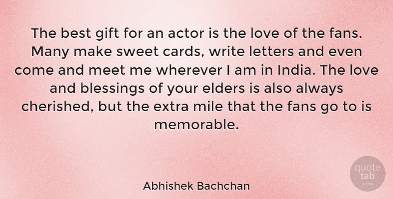 Abhishek Bachchan Quote About Sweet, Writing, Memorable: The Best Gift For An...