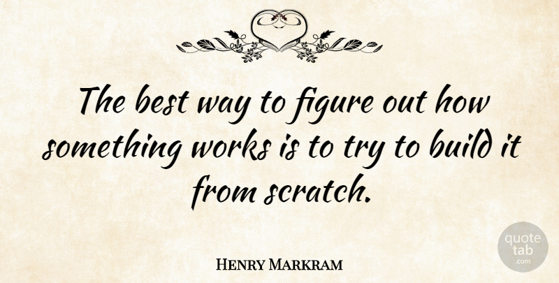 Henry Markram Quote About Best, Works: The Best Way To Figure...