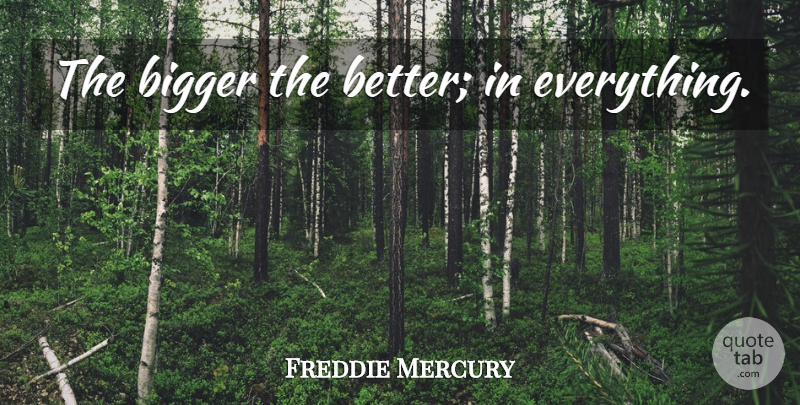 Freddie Mercury The Bigger The Better In Everything Quotetab