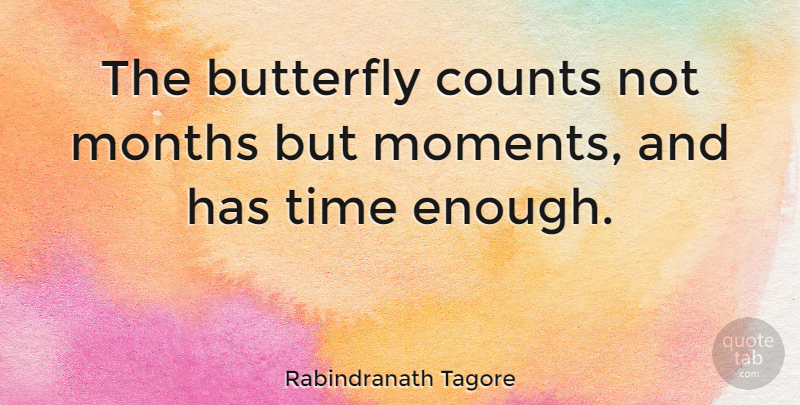 Rabindranath Tagore Quote About Time, Memories, Butterfly: The Butterfly Counts Not Months...