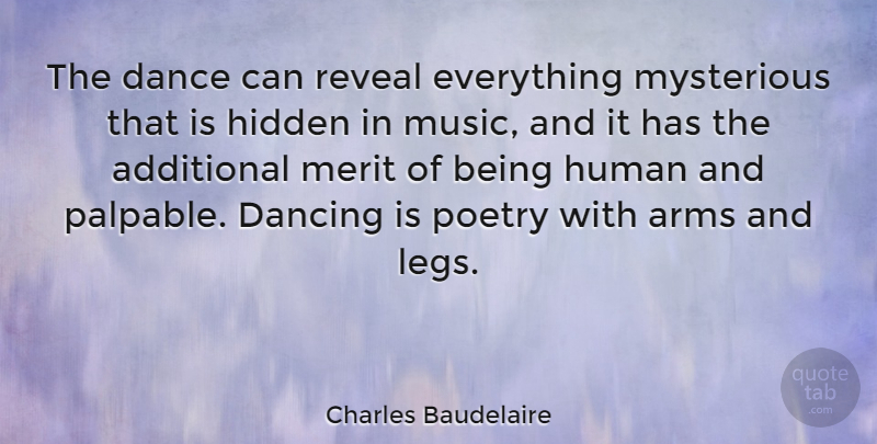 Charles Baudelaire The Dance Can Reveal Everything Mysterious That