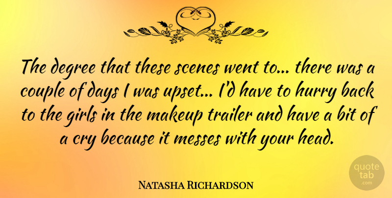 Natasha Richardson The Degree That These Scenes Went To There