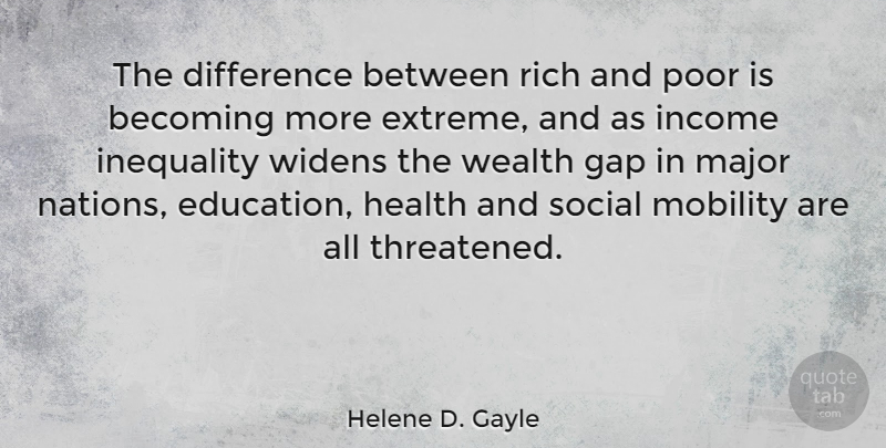 Helene D Gayle The Difference Between Rich And Poor Is Becoming