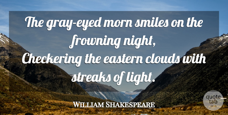 William Shakespeare Quote About Night, Light, Clouds: The Gray Eyed Morn Smiles...