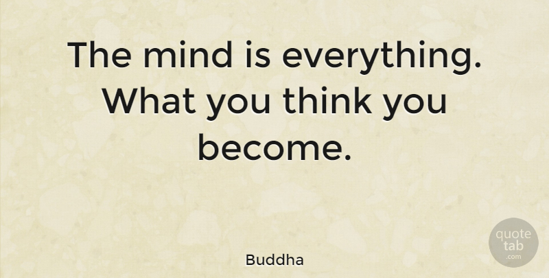 Buddha: The Mind Is Everything. What You Think You Become