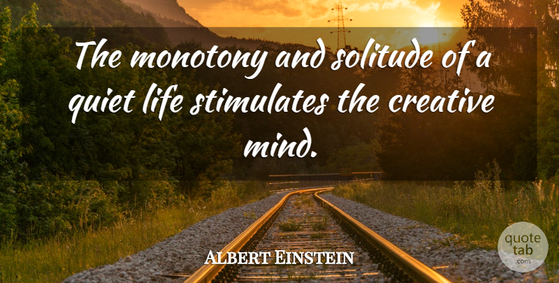 Albert Einstein The Monotony And Solitude Of A Quiet Life