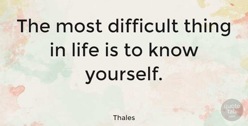 to know yourself quotes