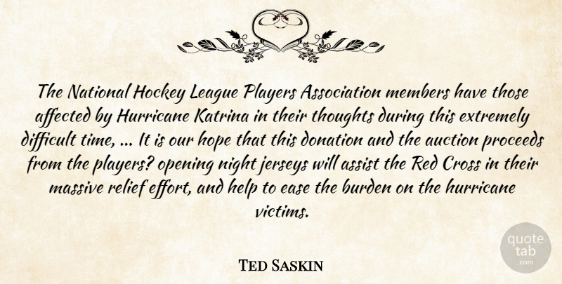 Ted Saskin The National Hockey League Players Association Members