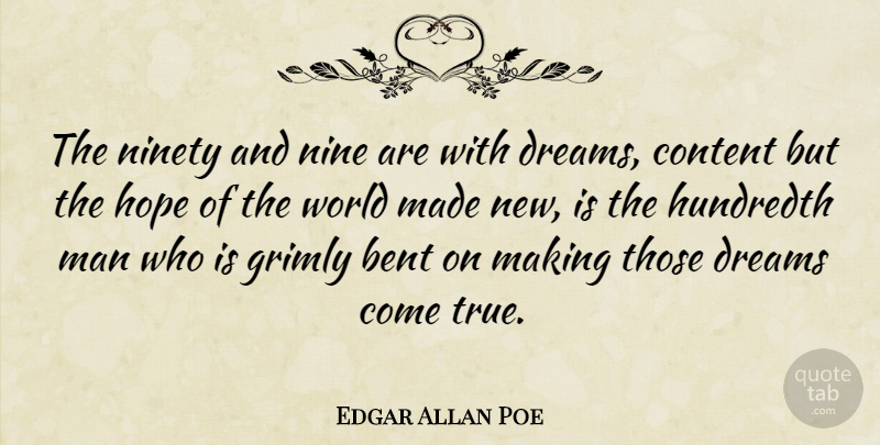 Edgar Allan Poe The Ninety And Nine Are With Dreams Content But