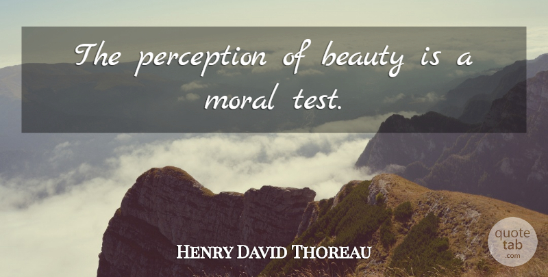 Henry David Thoreau Quote About Life, Beauty, Perception: The Perception Of Beauty Is...