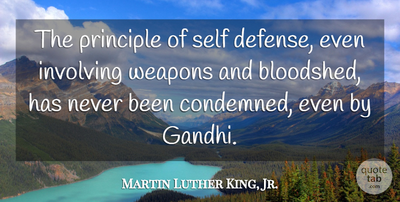 Martin Luther King, Jr. Quote About Involving, Principle: The Principle Of Self Defense...