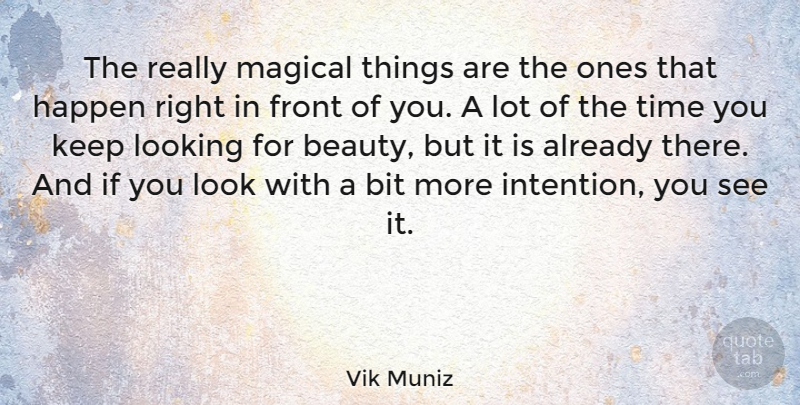 Vik Muniz Quote About Beauty, Bit, Front, Happen, Magical: The Really Magical Things Are...