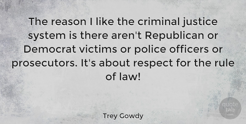 Trey Gowdy: The Reason I Like The Criminal Justice System