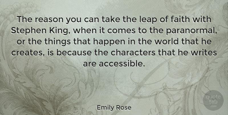 Emily Rose The Reason You Can Take The Leap Of Faith With Stephen