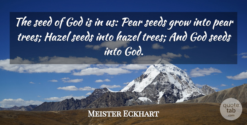 Meister Eckhart Quote About Tree, Divinity, Pears: The Seed Of God Is...