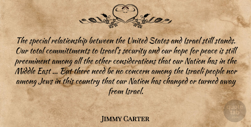 Jimmy Carter Quote About Country, Israel, People: The Special Relationship Between The...