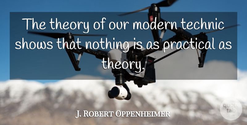 J. Robert Oppenheimer Quote About Science, History, Modern: The Theory Of Our Modern...