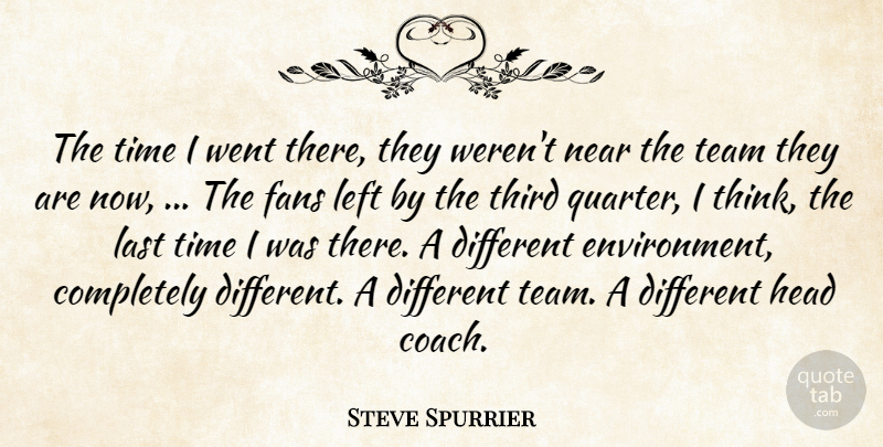 Steve Spurrier Quote About Fans, Head, Last, Left, Near: The Time I Went There...