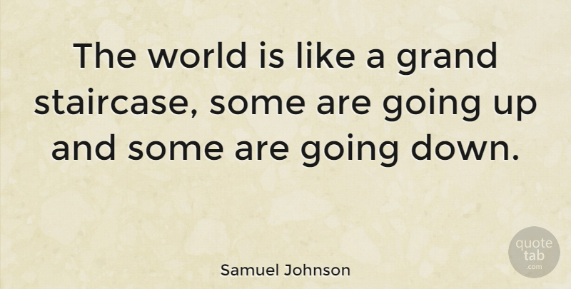 Samuel Johnson Quote About World, Staircases: The World Is Like A...