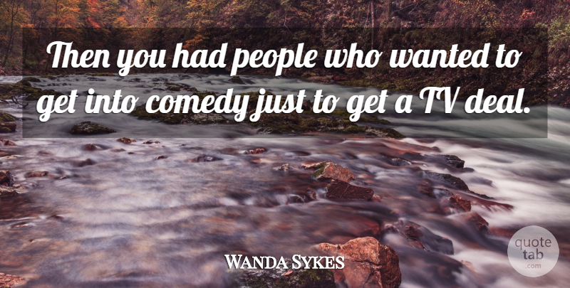 Wanda Sykes Quote About People, Tvs, Comedy: Then You Had People Who...