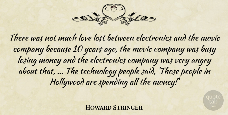Howard Stringer There Was Not Much Love Lost Between Electronics