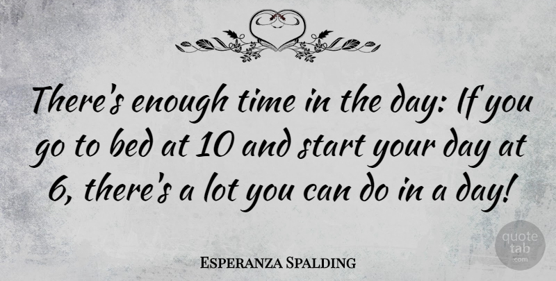 esperanza spalding there s enough time in the day if you go to