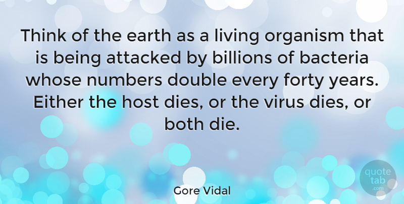 Gore Vidal Quote About Thinking, Years, Numbers: Think Of The Earth As...