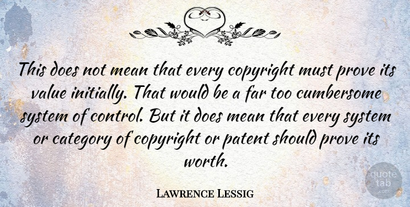 Lawrence Lessig Quote About Mean, Patents, Doe: This Does Not Mean That...