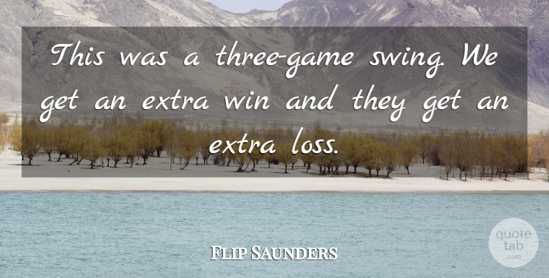 Flip Saunders Quote About Extra, Win: This Was A Three Game...