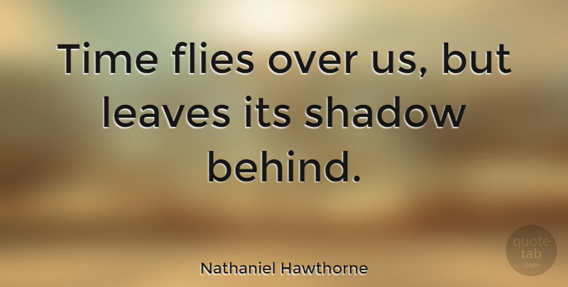 Nathaniel Hawthorne: Time flies over us, but leaves its ...