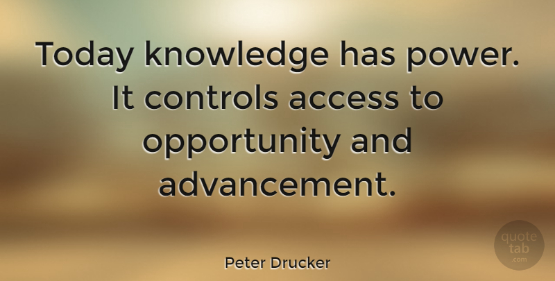 Peter Drucker Quote About Education Wise Knowledge Today Knowledge Has Power It