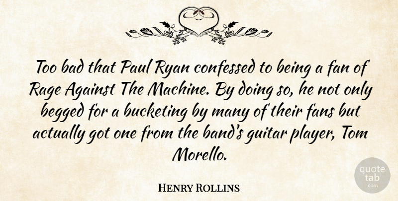 Henry Rollins Too Bad That Paul Ryan Confessed To Being A Fan Of