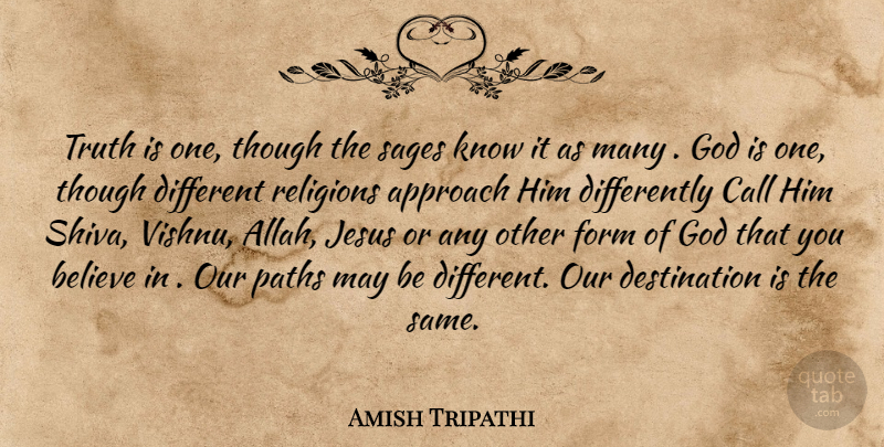Amish Tripathi Truth Is One Though The Sages Know It As Many God