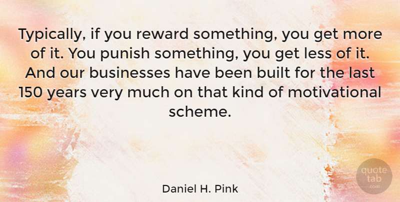 Daniel H. Pink Quote About Leadership, Years, Mind: Typically If You Reward Something...