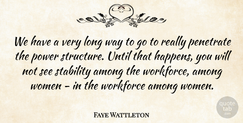 Faye Wattleton Quote About Among, Power, Until, Women, Workforce: We Have A Very Long...