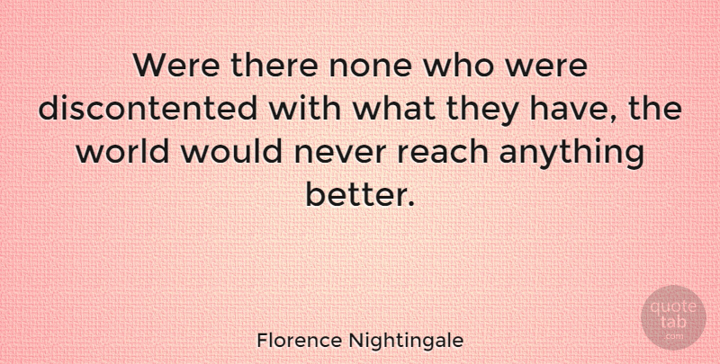 Florence Nightingale Quote About Happiness, Inspirational Life, Nursing: Were There None Who Were...