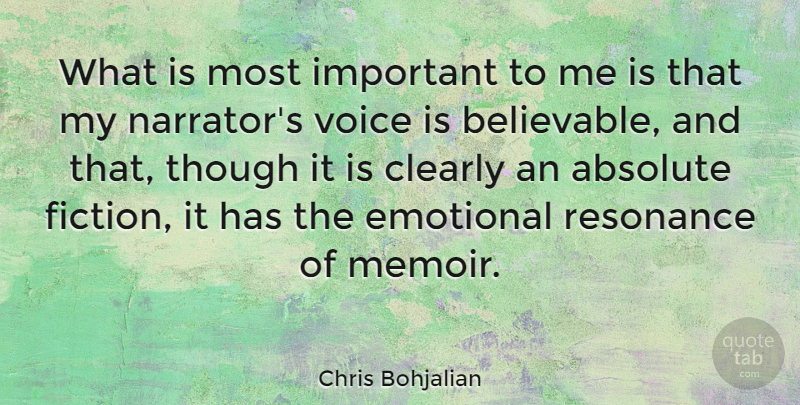 Chris Bohjalian: What is most important to me is that my