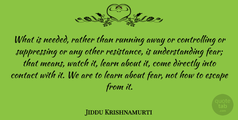 Jiddu Krishnamurti Quote About Love, Inspirational, Life: What Is Needed Rather Than...