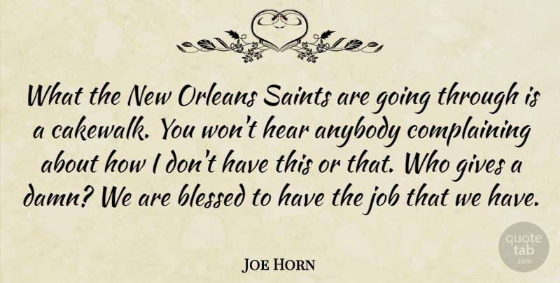 Joe Horn: What the New Orleans Saints are going through is a ...