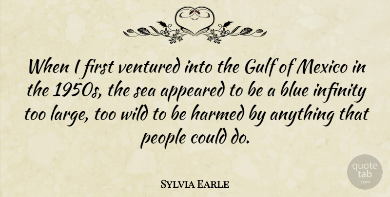 Sylvia Earle Quote About Sea, Blue, People: When I First Ventured Into...