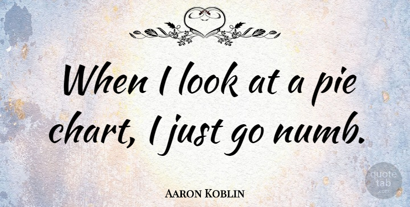 Aaron Koblin Quote About Pie, Looks, Numb: When I Look At A...