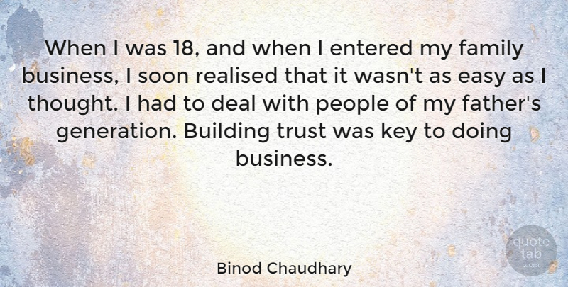 Binod Chaudhary When I Was 18 And When I Entered My Family