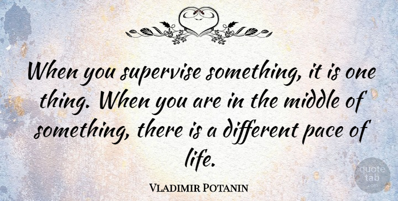 Vladimir Potanin Quote About Life: When You Supervise Something It...