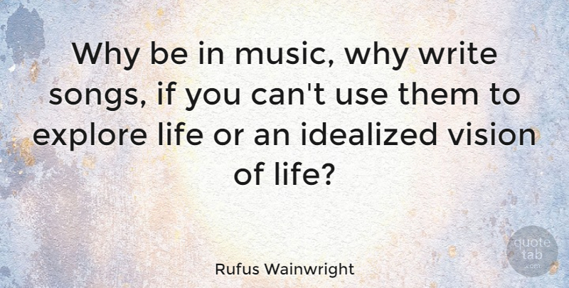 Rufus Wainwright Why Be In Music Why Write Songs If You Cant Use