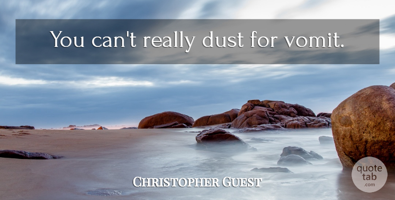 Christopher Guest Quote About Dust, Spinal Tap, Stonehenge: You Cant Really Dust For...