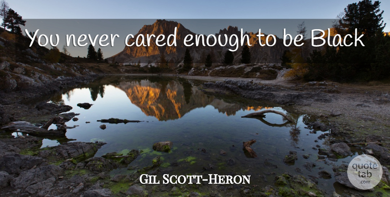 Gil Scott Heron You Never Cared Enough To Be Black Quotetab