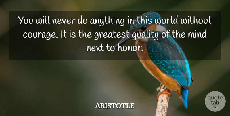 Aristotle Quote About Inspirational, Encouraging, Confidence: You Will Never Do Anything...