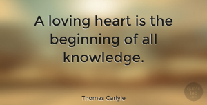 Love Quotes, Thomas Carlyle Quote About Love, Inspirational, Anniversary: A Loving Heart Is The...