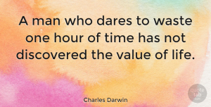 Inspirational Quotes, Charles Darwin Quote About Inspirational, Life, Encouraging: A Man Who Dares To...